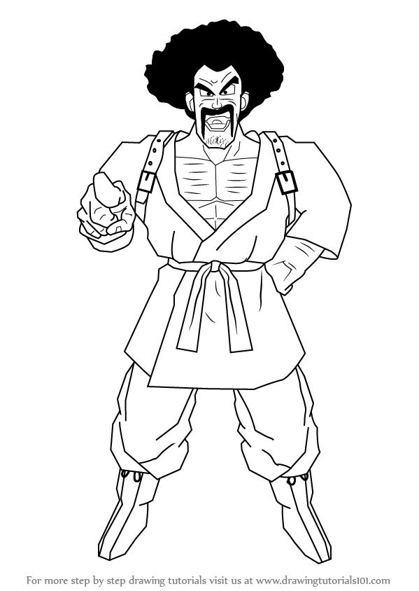599x844 Learn How To Draw Mr Satan From Dragon Ball Z (Dragon Ball Z) Step