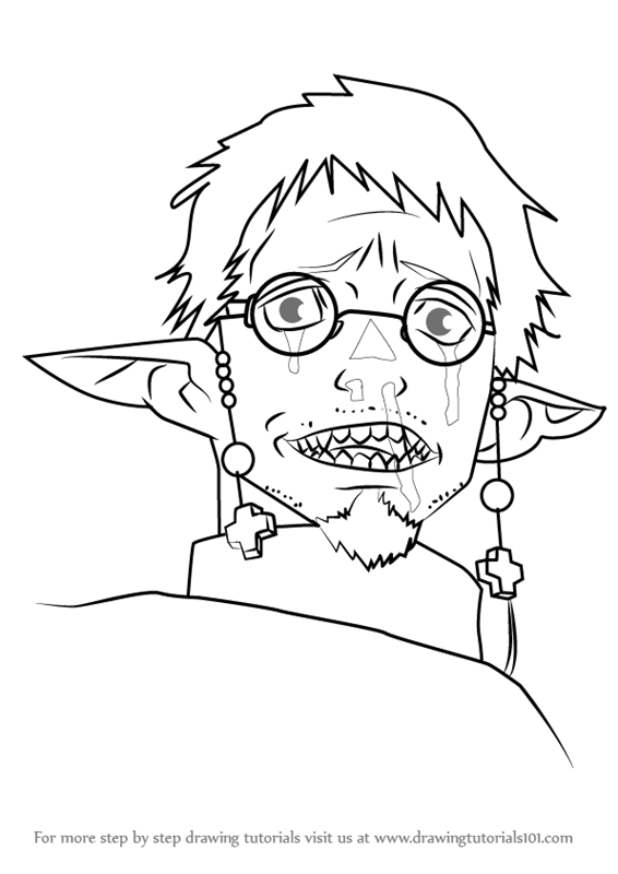 566x800 Learn How To Draw Satan From Ao No Exorcist (Ao No Exorcist) Step