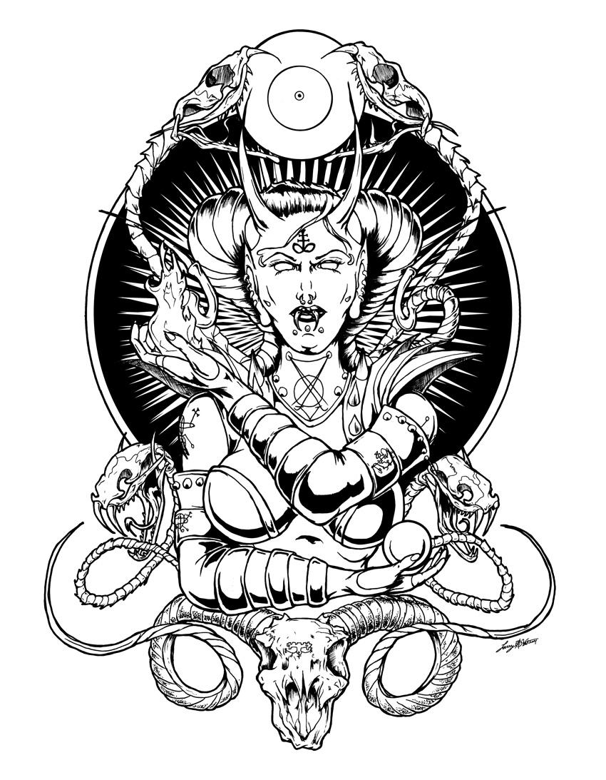 satanic drawing at getdrawings com free for personal use satanic