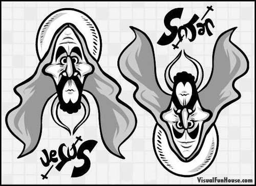 500x364 Jesus Satan Optical Illusion Visualfunhouse