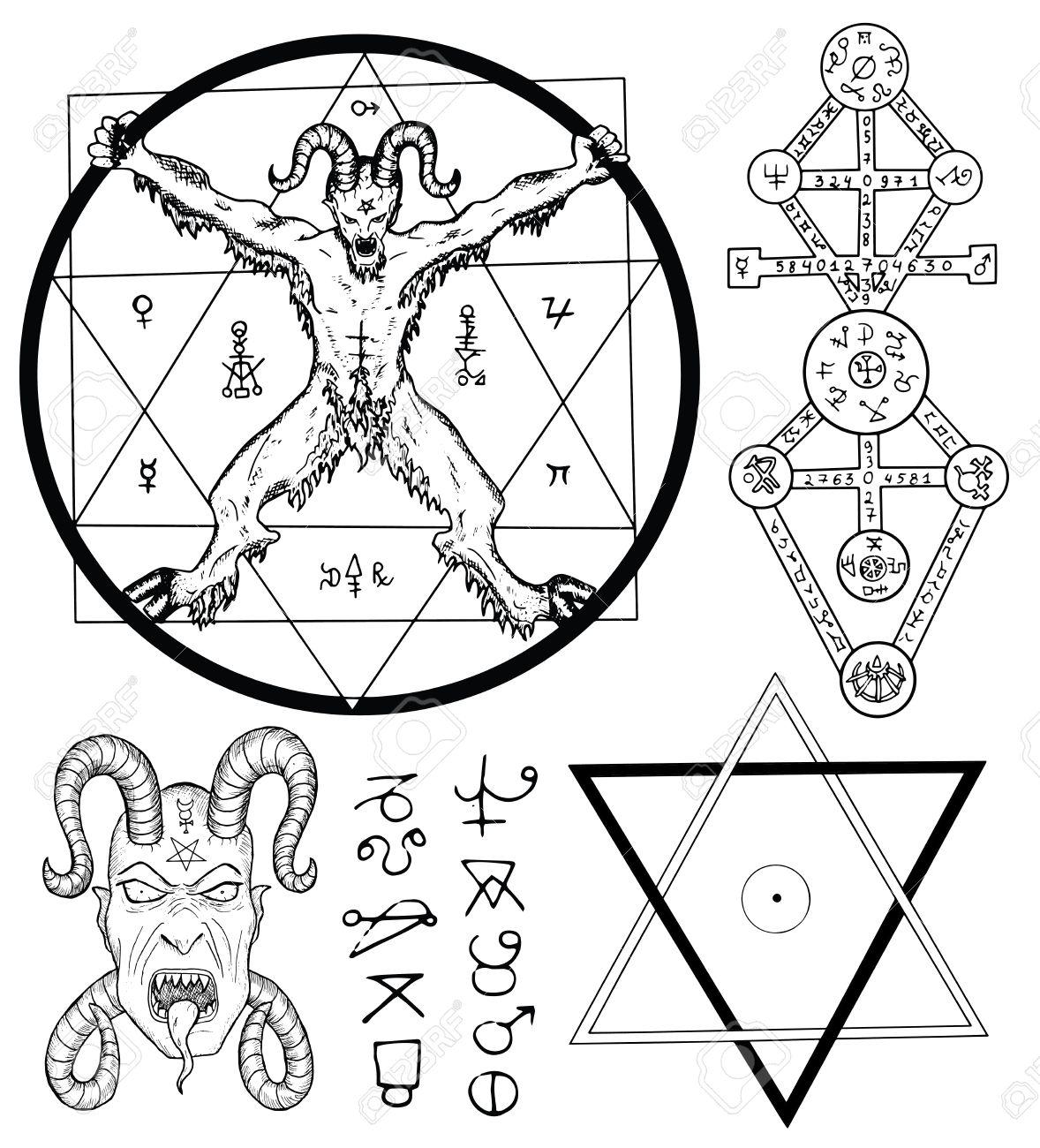 Satanic Drawing At Getdrawings Free For Personal Use Satanic