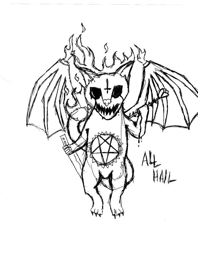 752x1063 Sketch 2 Satanic Cat By Murder0fcr0ws