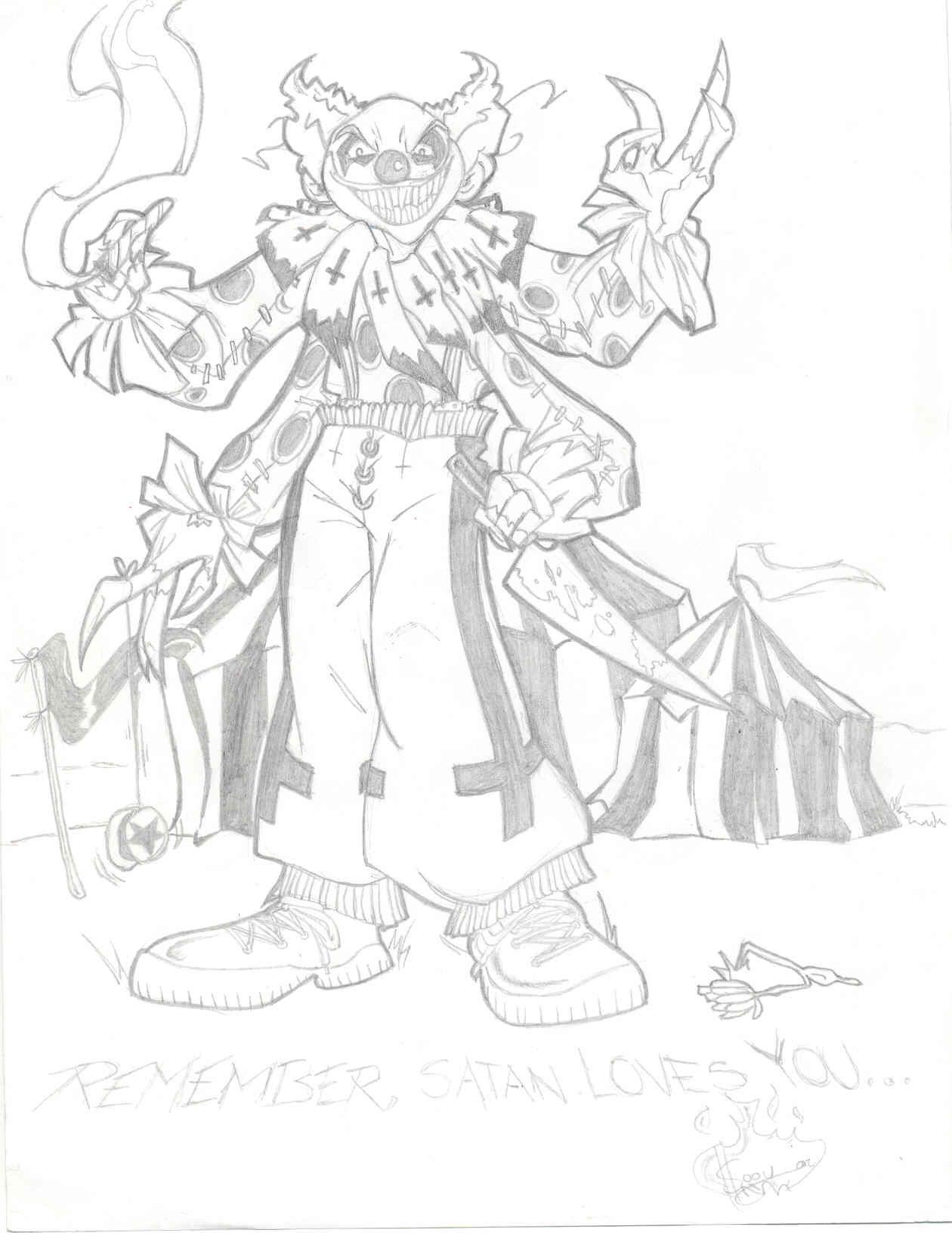 1260x1631 Satanic Clown Love By Loeobot