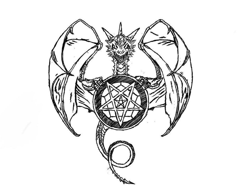 999x799 Satanic Dragon By Rheatta99