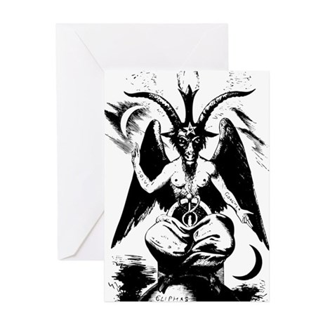 460x460 Satanic Greeting Cards Cafepress