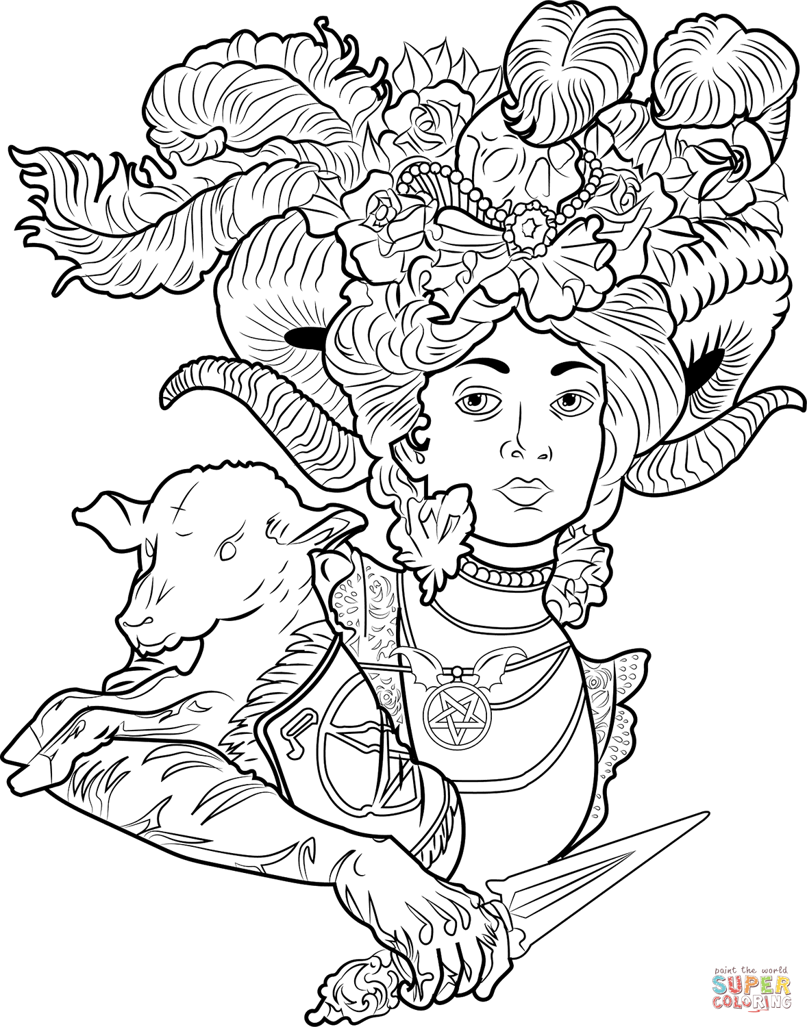 free satanic coloring pages - photo#3
