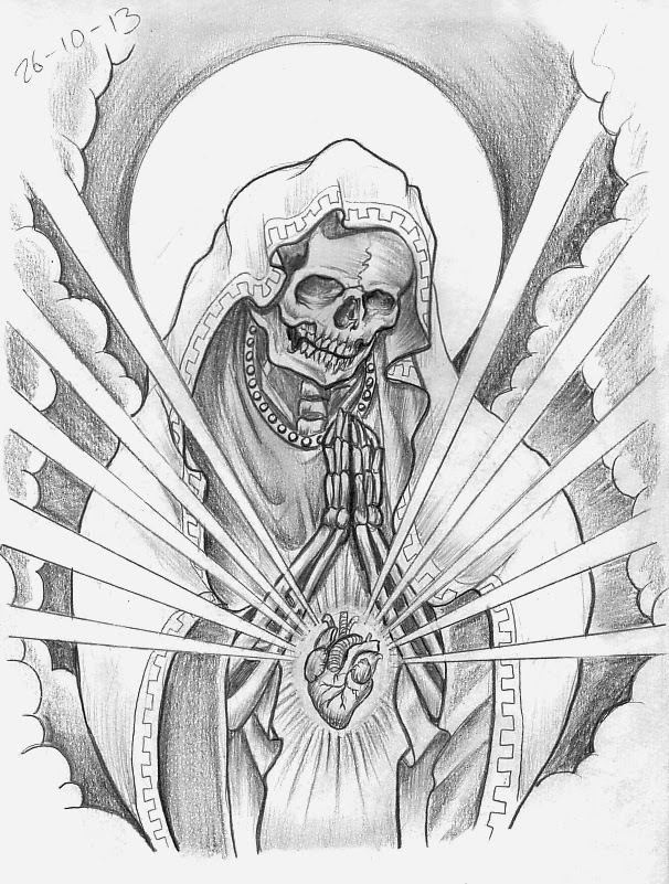606x801 Tattoo Sketch A Day Religious October 22nd