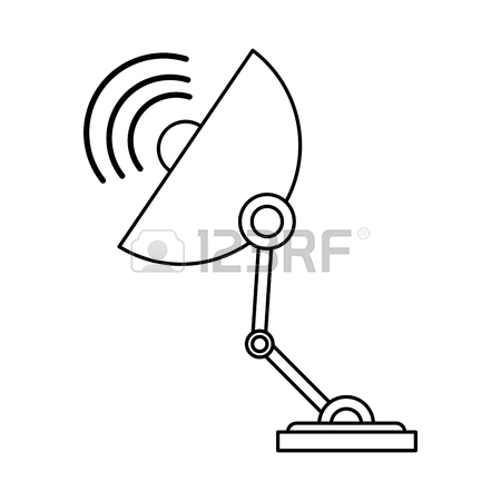 450x450 Satellite Dish Icon Image Vector Illustration Design Royalty Free