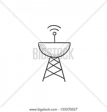 Satellite Dish Drawing At Getdrawings Com