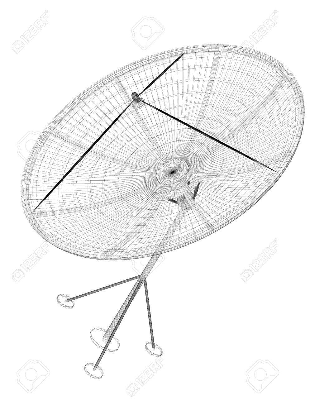 Satellite Dish Drawing at GetDrawings com   Free for