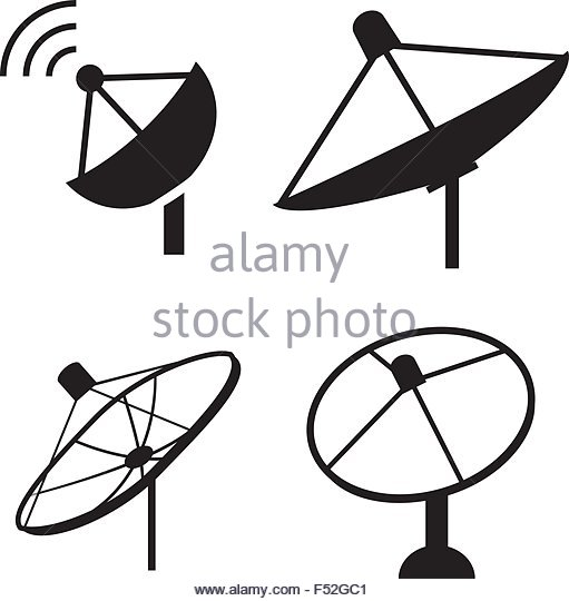 511x540 Silhouette Satellite Dish Stock Photos Amp Silhouette Satellite Dish