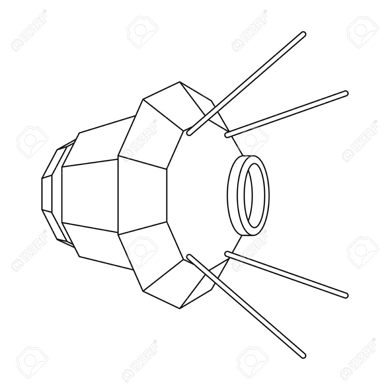 1300x1300 Artificial, Space Satellite Of The Earth. Space Technology Single