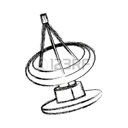 Satellite Dish Drawing At Getdrawings Com