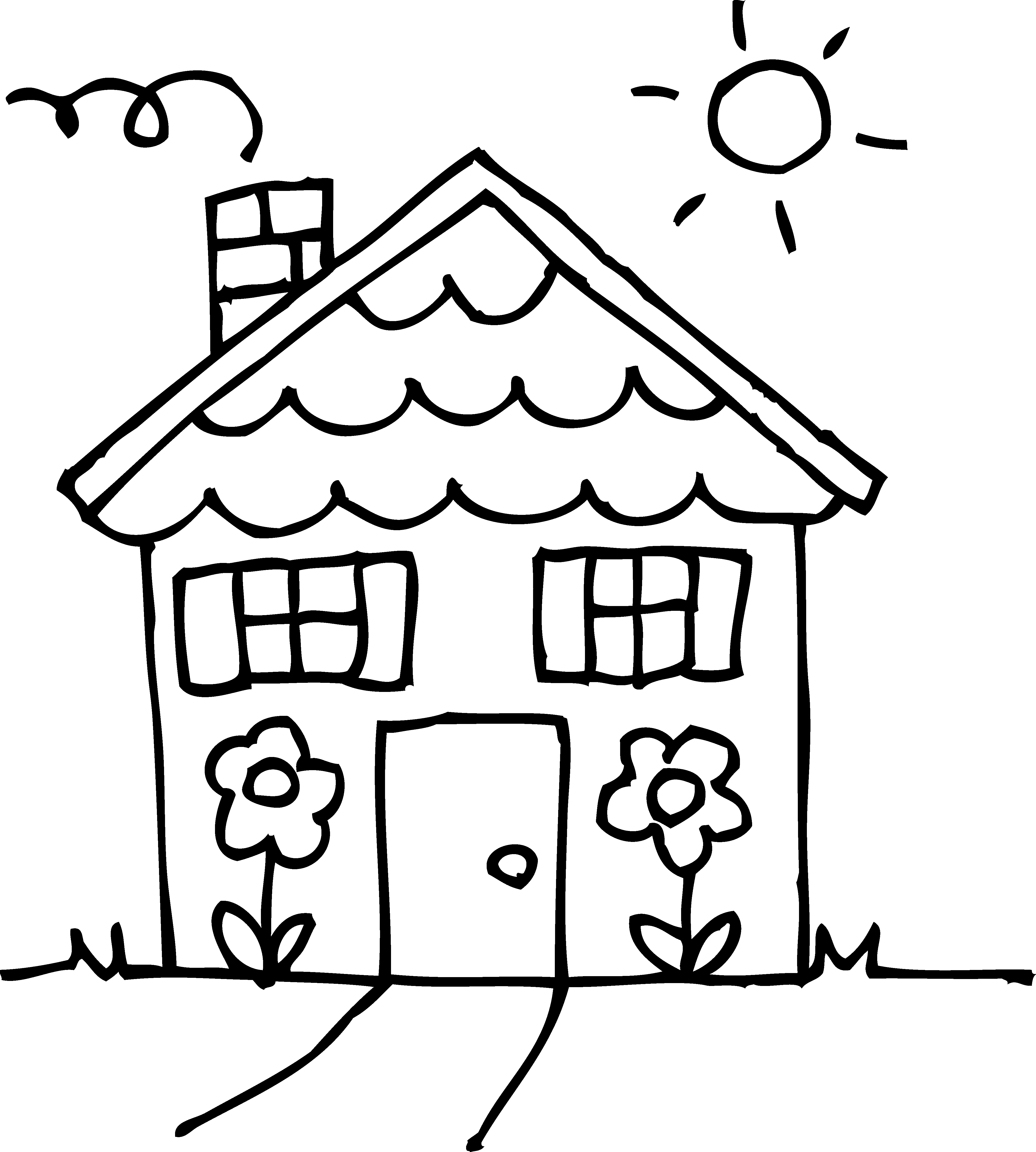 4332x4815 drawings of houses clipart 32