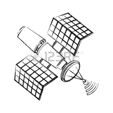 450x450 Satellite Wireless Technology World Global Net Vector Illustration