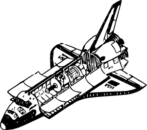 300x267 Space Shuttle Clip Art Free Vector 4vector