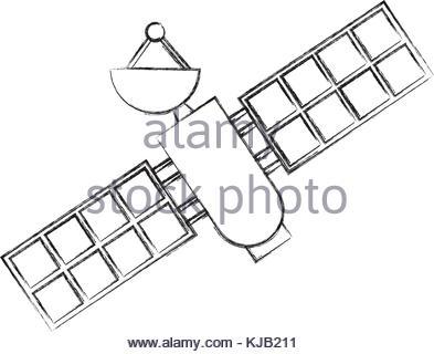 393x320 Artificial Satellite Spacial Icon Stock Vector Art Amp Illustration