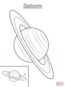 Saturn Planet Drawing at GetDrawingscom Free for personal use