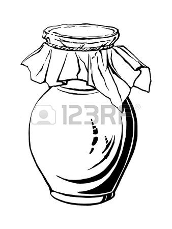 338x450 Hand Drawn, Sketch, Vector Illustration Of Saucepan Royalty Free