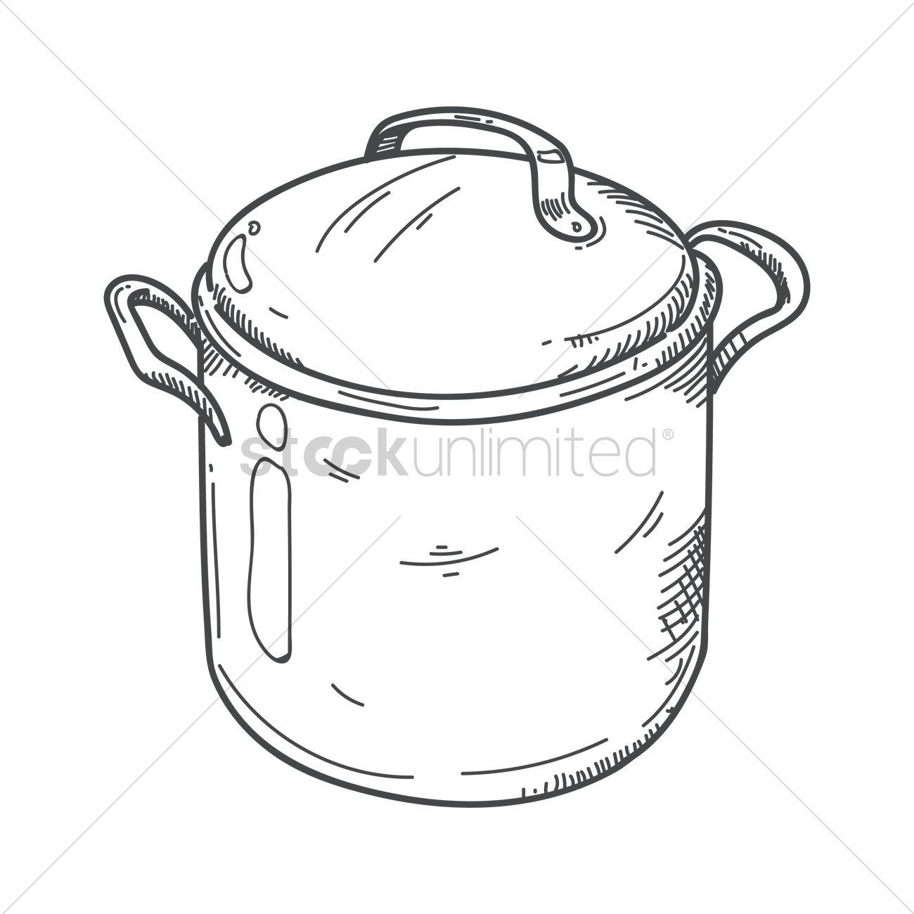 1300x1300 Cooking Pot Vector Image