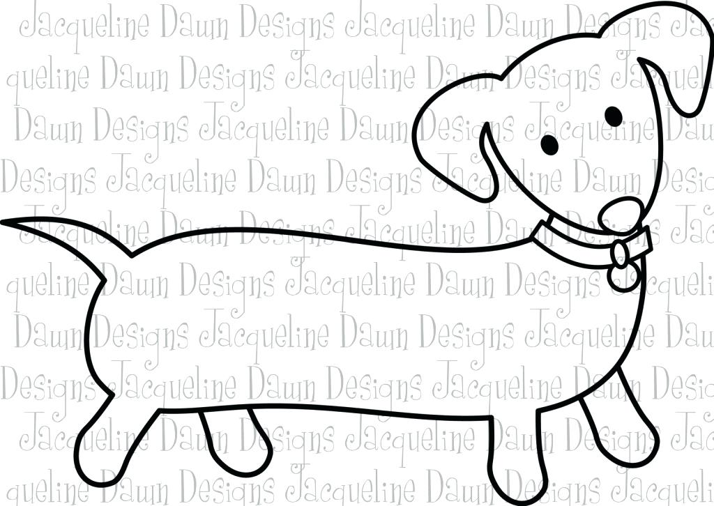 1024x726 Dachshund Coloring Page Art Of Dachshund Single Coloring Page
