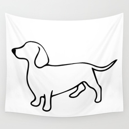 264x264 Dachshund Wall Tapestries Society6