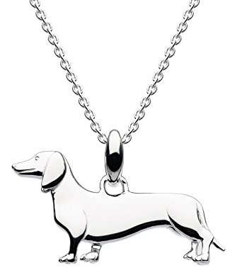 342x395 Dew Sterling Silver Sausage Dog Necklace Of Length 45.7cm Amazon