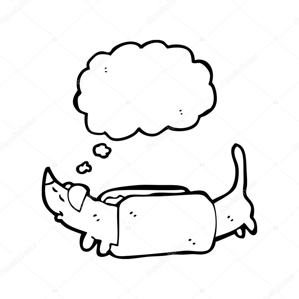 1024x1024 Sausage Dog Cartoon Stock Vector Lineartestpilot