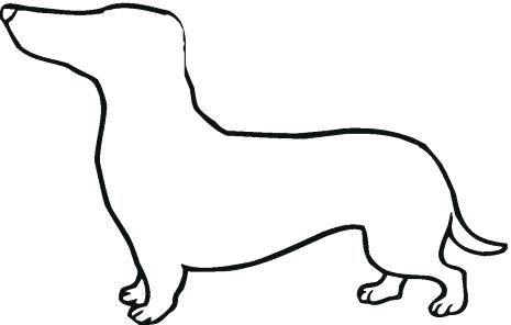 465x296 Wiener Dog Clipart Dog Love Dachshund Wiener Decal Sticker