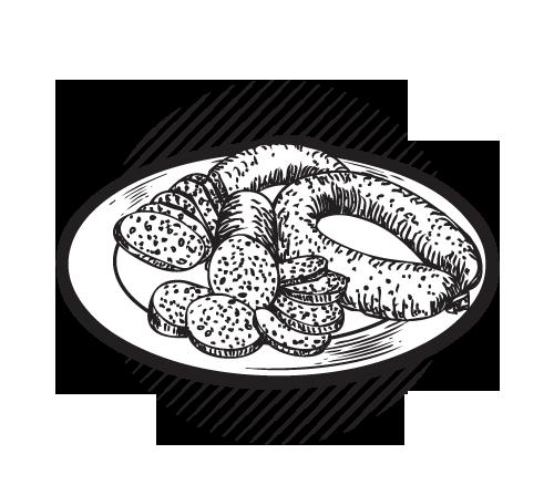 500x447 Sausage Plates Kehoe Amp Co
