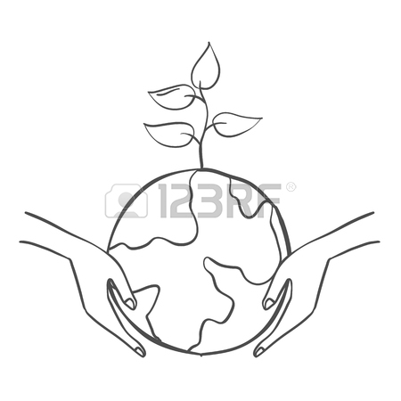 450x450 Save Earth From Bad Environment Doodle Royalty Free Cliparts