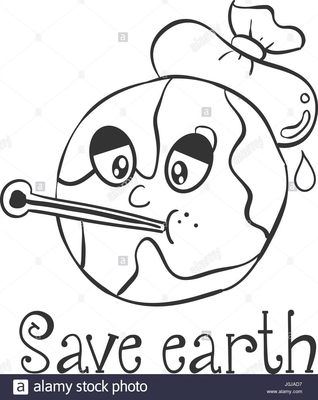 1106x1390 Hand Draw Save Earth Design Stock Vector Art Amp Illustration