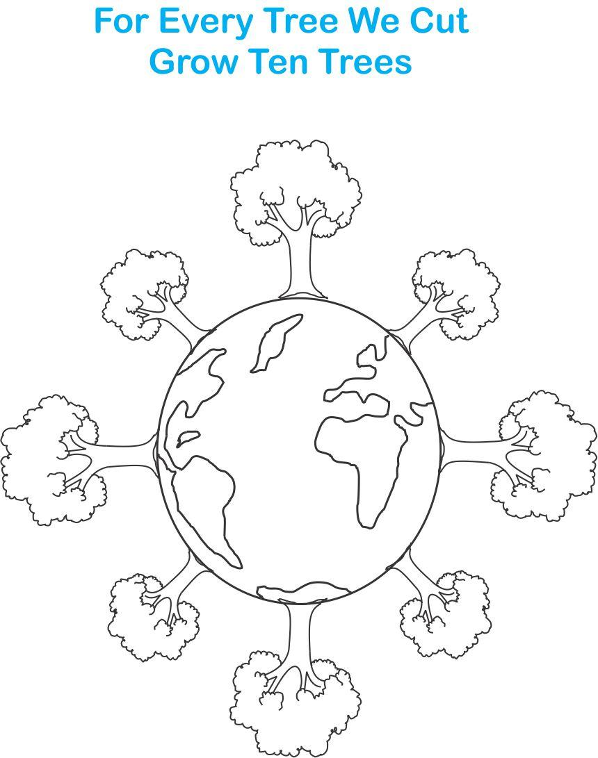 860x1091 Earth Day Printable Coloring Page For Kids 7