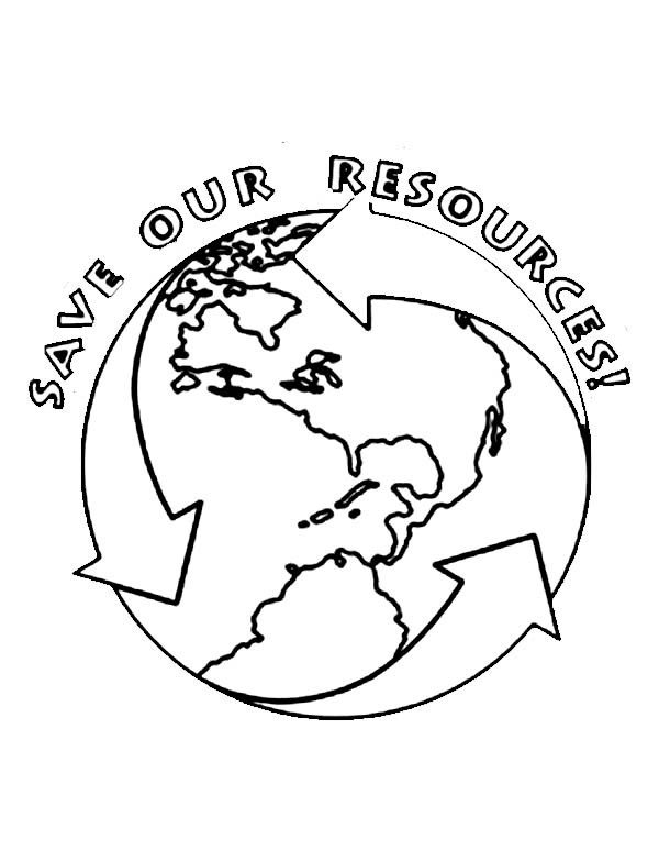 600x773 Save Our Resources On Earth Day Coloring Sheet Batch Coloring