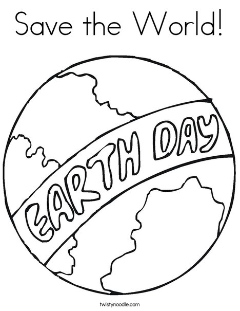 468x605 Save The World Coloring Page