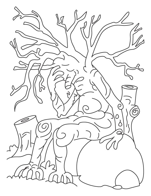 612x792 Save Tree Save Earth Coloring Pages Download Free Save Tree Save