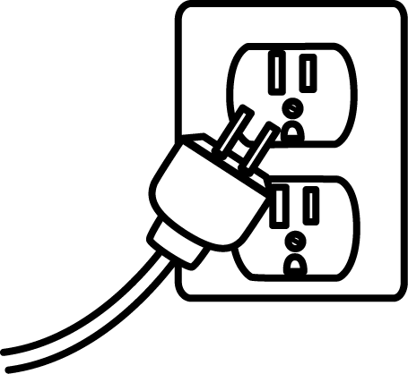 455x418 Save Electricity Clipart Black And White