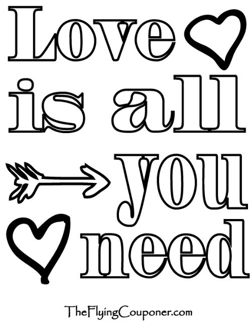 500x641 Colouring Pages For Adults And Kids. Coloring Page. Love Is All