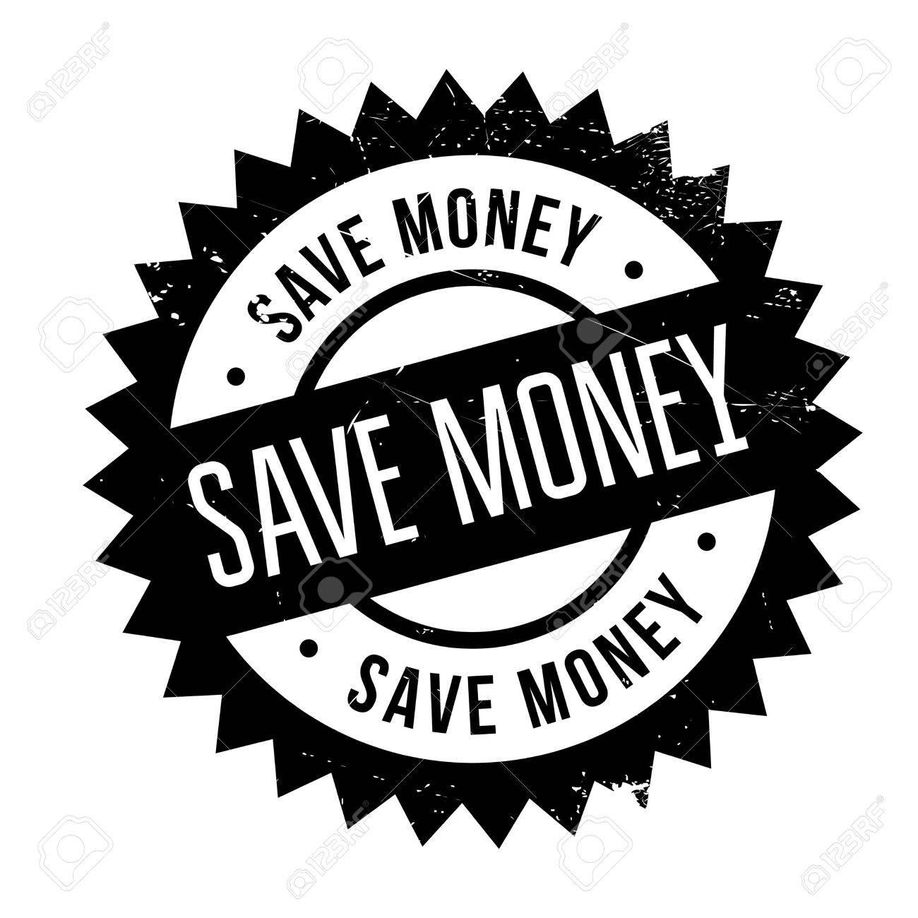 1300x1300 Save Money Stamp. Grunge Design With Dust Scratches. Effects