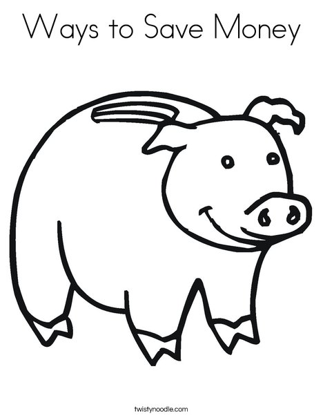 468x605 Ways To Save Money Coloring Page