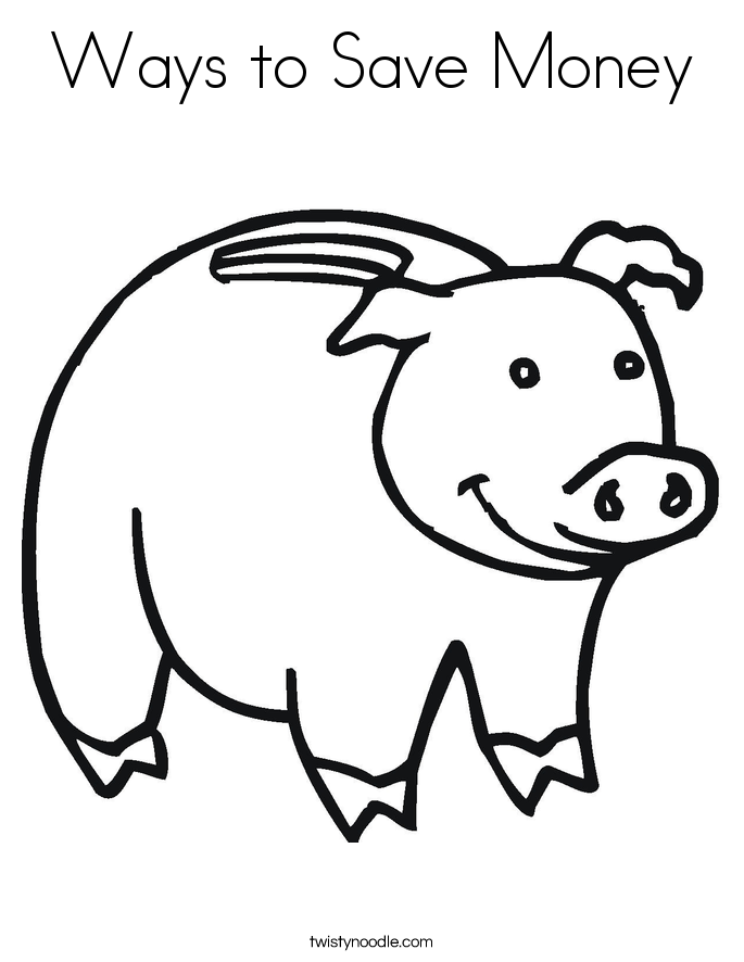 685x886 Ways To Save Money Coloring Page