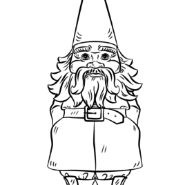 268x268 Coloring Page Garden Gnome Kids Drawing And Pages On David