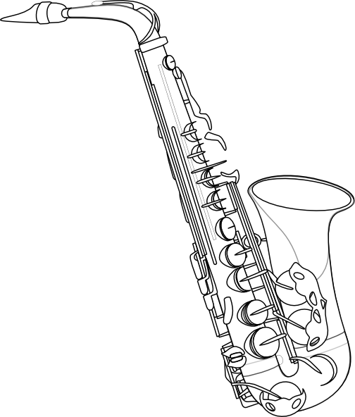 504x592 Image For Saxophone Drawing Drawings Amp Art