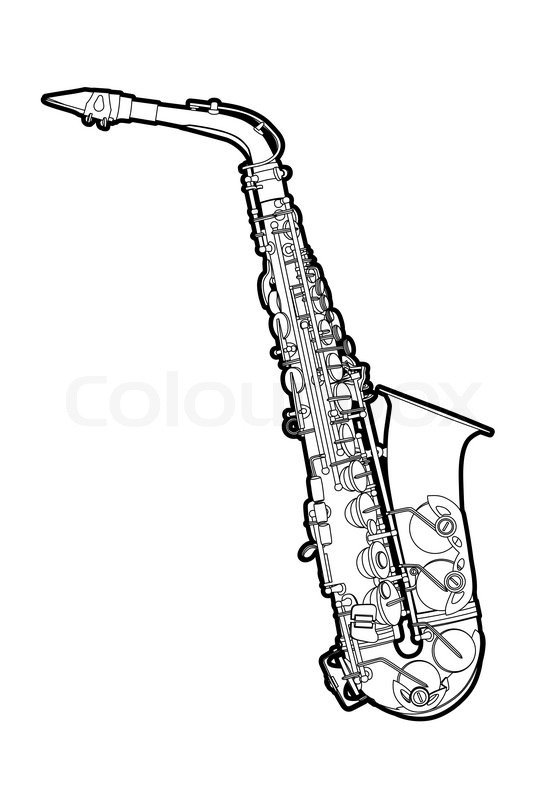 560x800 Saxophone Stock Vector Colourbox