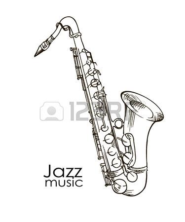 375x450 Saxophone Isolated On White Saxophone Jazz Saxophone Elements