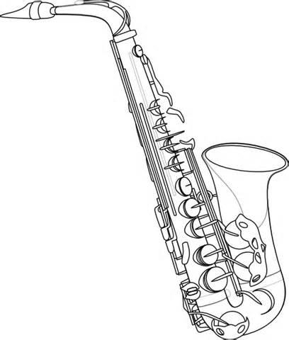408x480 Saxophone Outline Clip Art