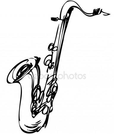 384x450 Saxophone Stock Vectors, Royalty Free Saxophone Illustrations