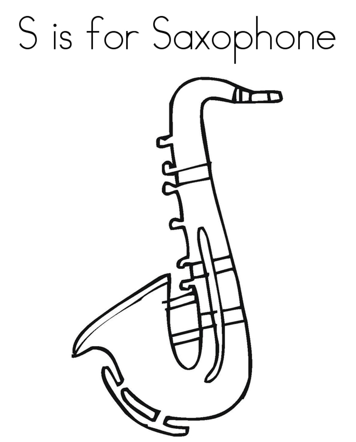 1144x1422 Saxophone Alphabet Coloring Page Alphabet Coloring Pages