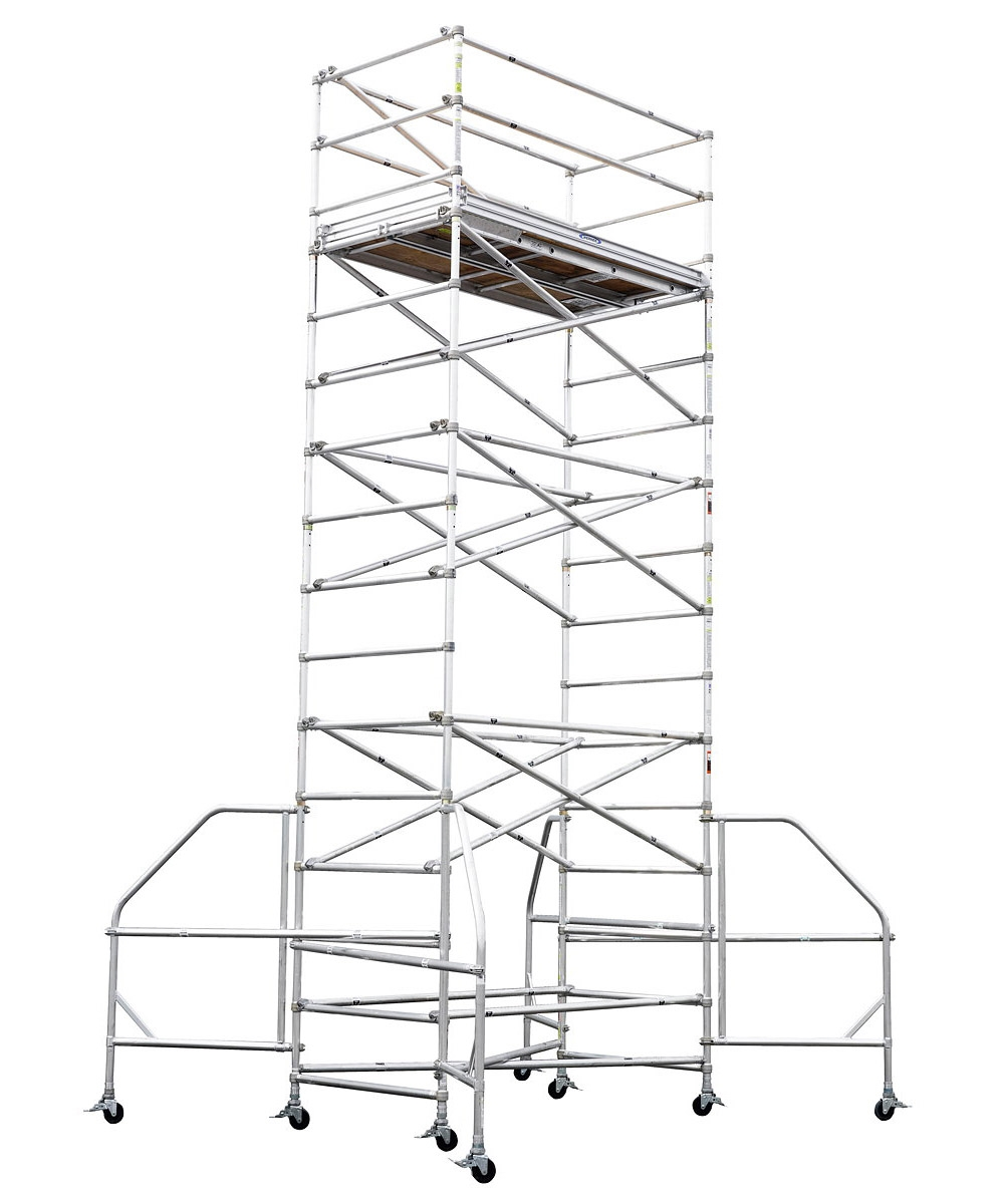 1000x1200 Werner 18' Wide Span Aluminum Scaffold Tower 4200 18 Series