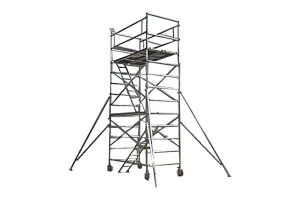 600x400 High Security Rolling Single Amp Double Width Aluminum Scaffolding